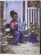 Girl with Book Fine-Art Print