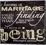 Success in Marriage Fine-Art Print