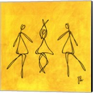 Joy - Yellow Dancers Fine-Art Print