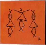 Hope - Orange Dancers Fine-Art Print