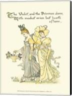 Shakespeare's Garden XI (Violet & Primrose) Fine-Art Print