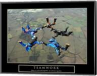 Teamwork-Skydivers II Fine-Art Print
