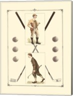 Golfers: H. Hutchinson & John Ball Fine-Art Print