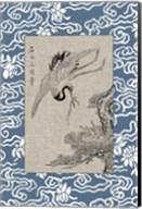 Asian Crane Panel I Fine-Art Print