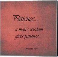 Patience Proverbs 19:11 Fine-Art Print