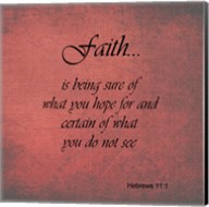 Faith Hebrews 11:1 Fine-Art Print