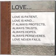 Love is Patient, Love is Kind Fine-Art Print
