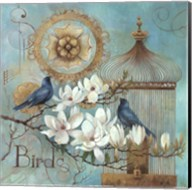 Blue Birds and Magnolia Fine-Art Print