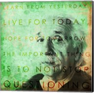Einstein – Live & Learn Quote Fine-Art Print