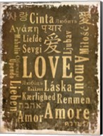 Love in Multiple Languages Fine-Art Print