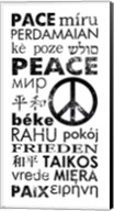 Peace in Different Languages Fine-Art Print