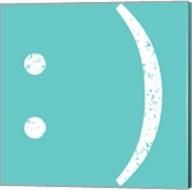 Aqua Smiley Fine-Art Print