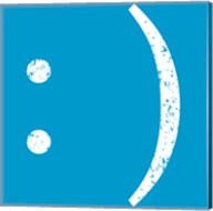 Blue Smiley Fine-Art Print