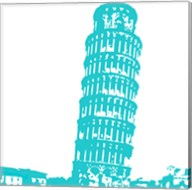 Pisa in Aqua Fine-Art Print