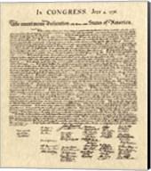 Declaration of Independence Khaki Fine-Art Print