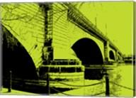 London Bridges on Lime Fine-Art Print