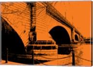 London Bridges on Orange Fine-Art Print