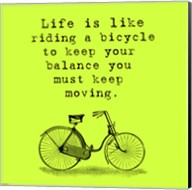 Lime Einstein Bicycle Quote Fine-Art Print