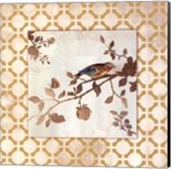 Audubon Tile I - Mini Fine-Art Print