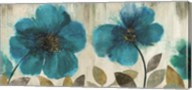 Teal Flowers - Oversize Wall Poster