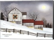 Christmas Star Quilt Block Barn Fine-Art Print