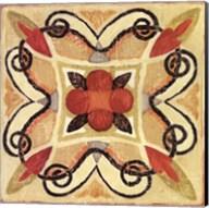 Bohemian Rooster Tile Square I Fine-Art Print