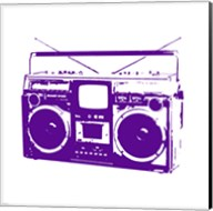 Purple Boom Box Fine-Art Print