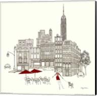 World Cafe III - NYC Red Fine-Art Print