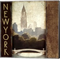 City Skyline New York Vintage Square Fine-Art Print