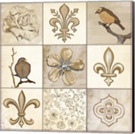 Fleur 9 Panel Fine-Art Print