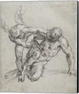 Cupid Overpowering Pan Fine-Art Print