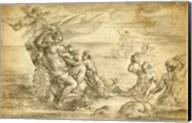 Venus in Her Sea Chariot Suckling Cupid Fine-Art Print