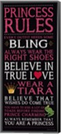 Princess Rules - Black Fine-Art Print