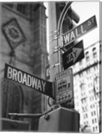 Broadway and Wall Street Fine-Art Print