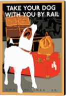Take Your Dog with You by Rail Fine-Art Print