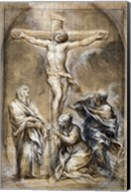 Christ on the Cross with the Virgin Mary Fine-Art Print