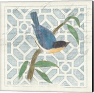 Monument Etching Tile I Blue Bird Fine-Art Print