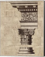 Architectural Rendering I Burlap Sepia Crop Fine-Art Print