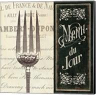 French Menu II Fine-Art Print