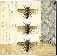 Golden Bees n Butterflies No. 1 Fine-Art Print