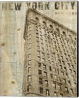 Vintage NY Flat Iron Fine-Art Print