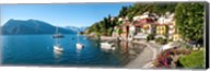 Early evening view of waterfront at Varenna, Lake Como, Lombardy, Italy Fine-Art Print