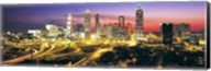 Skyline, Evening, Dusk, Illuminated, Atlanta, Georgia, USA, Fine-Art Print