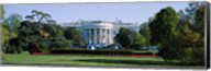 Lawn in front of a government building, White House, Washington DC, USA Fine-Art Print