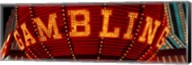 Close-up of a neon sign of gambling, Las Vegas Fine-Art Print