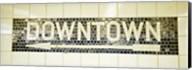 USA, New York City, subway sign Fine-Art Print