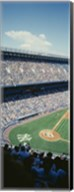High angle view of spectators watching a baseball match in a stadium, Yankee Stadium, New York City, New York State, USA Fine-Art Print