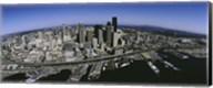 Aerial view of a city, Seattle, Washington State, USA Fine-Art Print