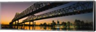 Low angle view of a bridge across a river, New Orleans, Louisiana, USA Fine-Art Print
