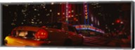 Car on a road, Radio City Music Hall, Rockefeller Center, Manhattan, New York City, New York State, USA Fine-Art Print